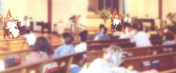 Gohar Shahi speaking before a Christian audience in the central Church of Tuscon in the American state of Arizona