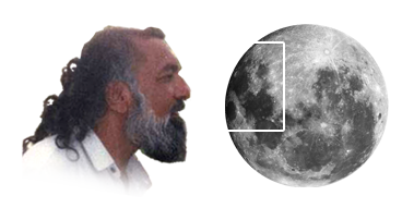 Imam Mehdi Gohar Shahi's Image on Moon