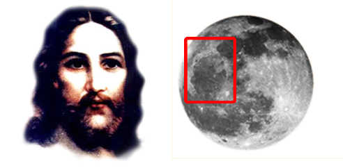 Jesus Christ's Image on the Moon