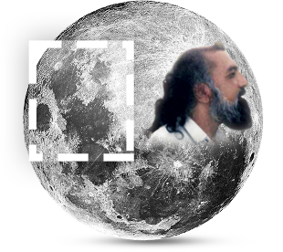 HDE Gohar Shahi's image on the Moon