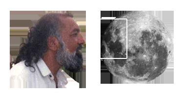 His Divine Eminence Ra Riaz Gohar Shahi's image on the Moon